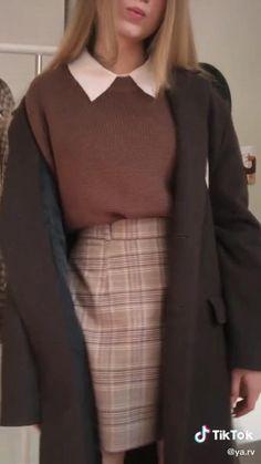 Retro Outfits, Cute Casual Outfits, Vintage Outfits, Warm Outfits, Girly Outfits, Simple Outfits, Look Fashion, Fashion Outfits, Fashion Pants
