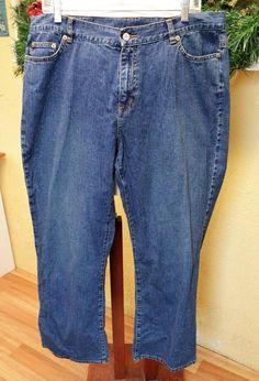 Lauren Jeans Co 16 Ralph Lauren Boot Cut Jeans Blue Medium Wash Classic Rise #LaurenJeansCoRalphLauren #BootCut