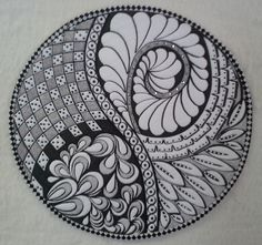Zentangle quilt made and quilted by Kathleen Crabtree.   I can't wait to make another.