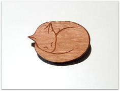 Broche petit #chat de craftingkaschemme sur DaWanda.com #cat