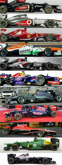 2013 F1 Season Line-Up