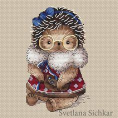 "Cross stitch design ""Hedgehog Lena"" #sa_stitch #sa_pattern #pattern"