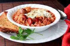 Crockpot Lasagna Soup. Can be made thicker with more tomato paste.
