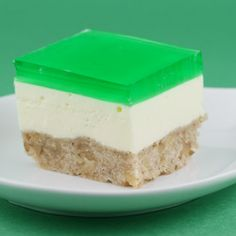 St. Patrick's Day Jello Cream Cake.