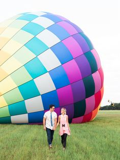 hot air balloon engagement session | Todd Helzer
