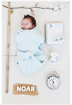 Birth Announcement Newborn Photo Session Inspiration Name Date Weight Ruler Clock Time Unique Custom Blue Boy Kirra Photography Newborn Pictures, Baby Pictures, Baby Photos, Book Bebe, Birth Announcement Girl, Foto Baby, Newborn Shoot, Baby Born, Baby Kind