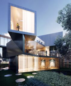 Best Ideas For Modern House Design & Architecture : – Picture : – Description Modern Home Design by the Urbanist Lab Architecture Design, Residential Architecture, Amazing Architecture, Contemporary Architecture, Contemporary Houses, Architecture Magazines, Contemporary Apartment, Contemporary Landscape, Contemporary Bedroom