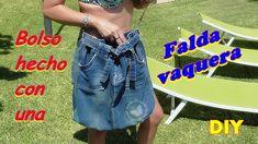 9fab0b273cb Cómo hacer un bolso con tela vaquera sin coser ♻ Muy Fácil y rápido Bolsos  De