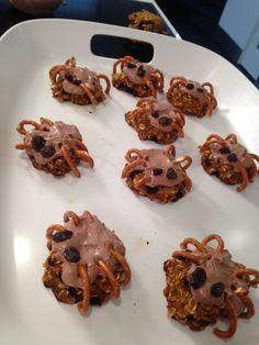 Healthy Halloween Spider Cookies