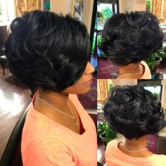 A sew in bob is a great option for those who like the style but don't want to commit to the look long-term. Here are some tips plus 25 sew-in bob styles. Sew In Bob Hairstyles, Pretty Hairstyles, Black Hairstyles, 1930s Hairstyles, Classy Hairstyles, Bob Haircuts, Braided Hairstyles, Medium Hair Styles, Curly Hair Styles
