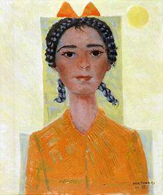 Girl(1955) - Oil on Canvas - Candido Portinari.