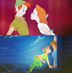 Peter Pan and Wendy Kiss | Peter Pan Peter Pan