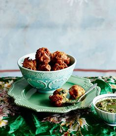 Pekowrahs with coriander and mint chutney recipe, Parwana Afghan Kitchen, Adelaide :: Gourmet Traveller