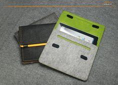 Felt iPad Case iPad Sleeve iPad Bag with Earphone by lavievert, $22.00