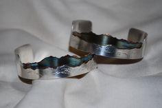 Custom Made Mountain Bracelet, Patina, Sterling Silver, Jewelry by WCJewelryDesigns on Etsy