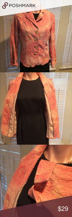 Coldwater Creek blazer jacket It's like wearing that favorite jean jacket. Perfect for fall, 4 button turned up cuff sleeves, not lined. You'll love it! Coldwater Creek Jackets & Coats Jean Jackets