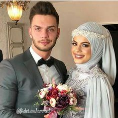 Cute Muslim Couples, Cute Couples, Hijab Fashion, Diy Fashion, Wedding Hijab Styles, Muslim Brides, Engagement Dresses, Hijab Dress, Couple Goals