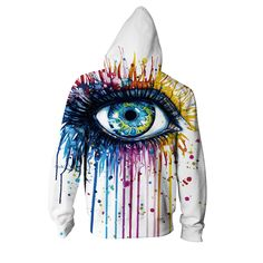 BIG EYE COLOR ZIP-UP HOODIE