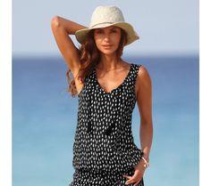 Top s ethno potlačou Mix Match, Tankini, Swimwear, Comme, Products, Fashion, Pom Poms, Stretch Fabric, Suit