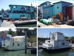The Gates Co-Op Houseboat Community has congealed into a sprawling mass of nodes over time, accruing new residents and structures in an almost visibly organic fashion. Description from pinterest.com. I searched for this on bing.com/images