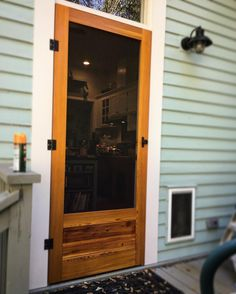 Here's a great-looking door finished with our Marine finishing system. Our Marine products are perfect for outdoor wood projects because they protect wood from rain and snow. https://waterlox.com/marine