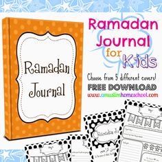 Kids Ramadan Journal - Free printable