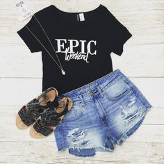 Outfit of the day --- Top: H&M, size XS, $5 --  Shorts: American Eagle, size 5, $10 --  Sandals: Report, size 8, $6 --  Necklace: $5.99 --