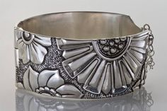 Carved Metal Clay Bracelet by Terry Kovalcik Love his work!!