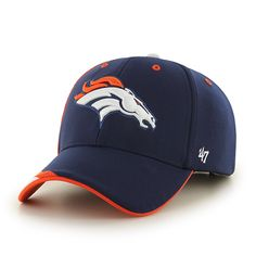 b87127a45b1f5 Denver Broncos Neutral Zone MVP Light Navy 47 Brand Adjustable Hat