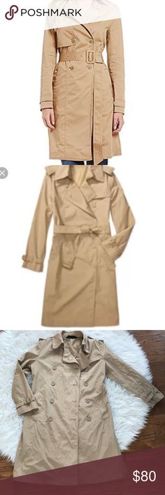 • Norma Kamali • Tan Trench Coat XL Long - Norma Kamali NYC - Long Trench Coat  - Tan - Cotton and Polyester - XL - Excellent Condition  - First Stock Picture is Slightly Different Norma Kamali Jackets & Coats Trench Coats
