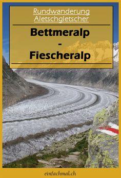 Alle Infos zur Wanderung. Alle nützlichen Angaben (Wegbeschreibung, Kartenausschnitt, Höhenprofil) zu der Wanderung von der Bettmeralp zur Fiescheralp (entlang dem Aletschgletscher) findest du jetzt hier. #Wandern #Schweiz #Wallis #Bettmeralp #Fiescheralp #Aletschgletscher #Aletsch Trekking, Switzerland, The Good Place, Hiking, Country Roads, Vacation, Outdoor, Holiday, Nature