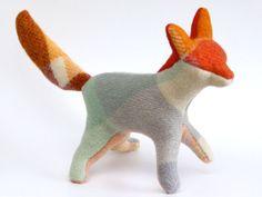 Fantastic Mr Fox / Soft Sculpture Eco Art Doll by cobbledtogether, $40.00