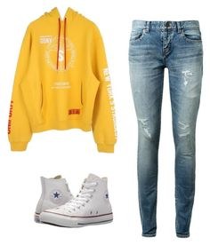 """""""Untitled #111"""" by niced445 ❤ liked on Polyvore featuring Heron Preston, Yves Saint Laurent and Converse"""