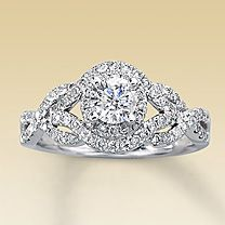 kay jewelers 14k white gold 1 carat tw diamond engagement ring 249999 - Kay Jewelers Wedding Rings For Her