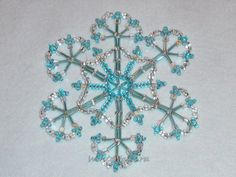 Blue Ice: Beaded Snowflake inspiration Tales of winter copyright