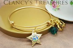 Florida Sheriff's Star bangle bracelet available at my  Etsy shop https://www.etsy.com/listing/486626486/florida-sheriffs-star-stainless-steel