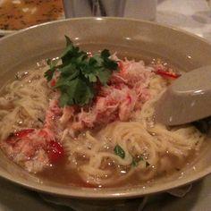 "Crab ramen @ Sensei restaurant.  Katie says, ""Sensei is the best sushi on Maui!"""