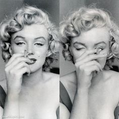 Marilyn Monroe with cigarette