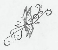 Butterfly Tribal Pic Tattoo