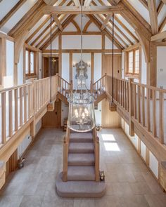 Timber Frame Homes, Timber House, Cob House Interior, Barn Conversion Interiors, Home Bar Areas, Oak Framed Buildings, Pole Barn House Plans, House Stairs, Cottage Interiors