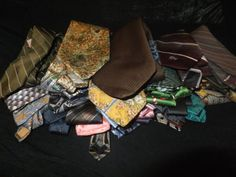 Lot-of-29-Mens-Neckties-Neck-Ties-for-Quilting-Arts-Crafts