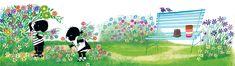Jip en Janneke plukken bloemen - Fiep Westendorp