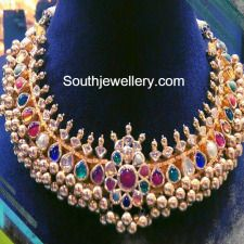Navratna Tussi necklace