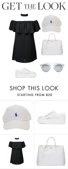 """""""Untitled #529"""" by madelin-ruby ❤ liked on Polyvore featuring Prada, Christian Dior, GetTheLook and hats"""
