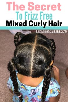 Hairstyles curly Got Frizzy Mixed Hair? Here's The Secret To Eliminating Frizz You may think it's impossible to have frizz-free biracial curly hair. But you can get rid of frizzy mixed hair! Here's the secret to get beautifully smooth mixed hair! Mixed Curly Hair, Mixed Hair Care, Curly Hair Tips, Curly Hair Care, Short Curly Hair, Curly Hair Styles, Long Hair, Curly Mohawk Hairstyles, Mixed Kids Hairstyles