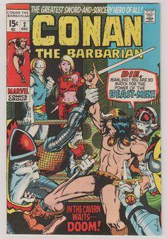 Conan the Barbarian V1 2.  VF.  Dec 1970.  by RubbersuitStudios, $100.00 #conan #conanthebarbarian #comicbooks