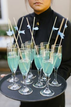 Blue signature cocktails! | Photography: Marisa Holmes Photography - marisaholmesblog.com  View entire slideshow: 20 Ideas for Your Something Blue on http://www.stylemepretty.com/collection/230/