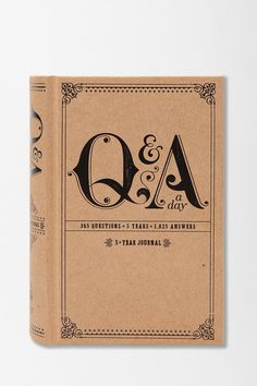 Cute Idea!   UrbanOutfitters.com > Q And A A Day Journal