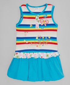 Another great find on #zulily! Blue & Red Stripe Dress - Infant, Toddler & Girls #zulilyfinds