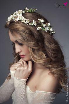 """Веточка """"Белый миндаль"""". Цветы из шелка ручной работы Лилия Марченко. FLOWEAR - там, где женщина расцветает!"""